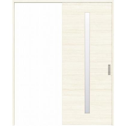 住友林業クレスト 引き戸 スリット1枚ガラス横目 ベリッシュホワイト柄 枠外W1463×枠外H2300 HBATK03HAW848J1S3R 内装建具 1セット
