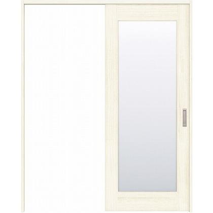 住友林業クレスト 引き戸 1枚ガラス ベリッシュホワイト柄 枠外W1463×枠外H2032 HBATK25HAWE47J1S3L 内装建具 1セット