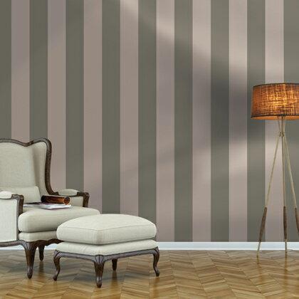 Wallprops 貼ってはがせる壁紙シール  ストライプ グレー グレー 長さ2.5m 幅52cm Stripe Grey 2.5m  1本