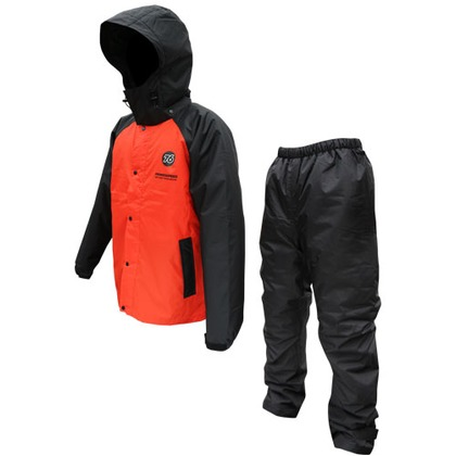76 Lubricants 76防水防寒スーツ ブラック/レッド カッパ W763-BR-M 1着