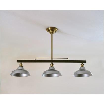 シバタ照明 インダストリアルライト スチール製3灯ペンダントライト(ランプ別売) 照明プレート 1台