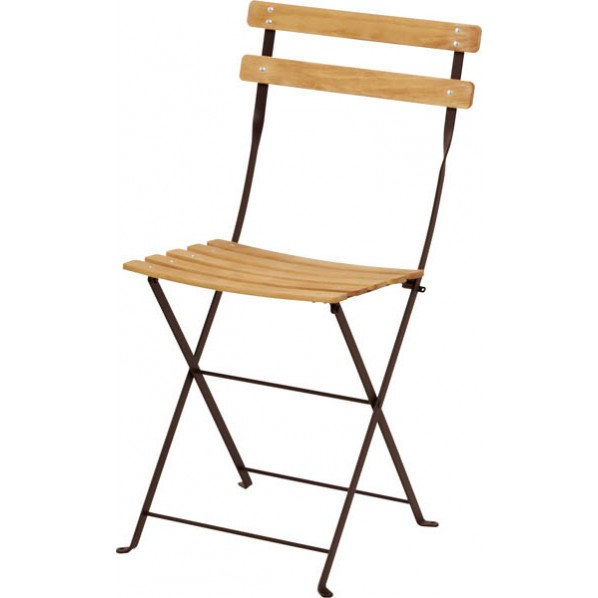 【送料無料】ビストロ ベランダチェア ブラウン ガーデンテーブル・チェア 650201410 1脚
