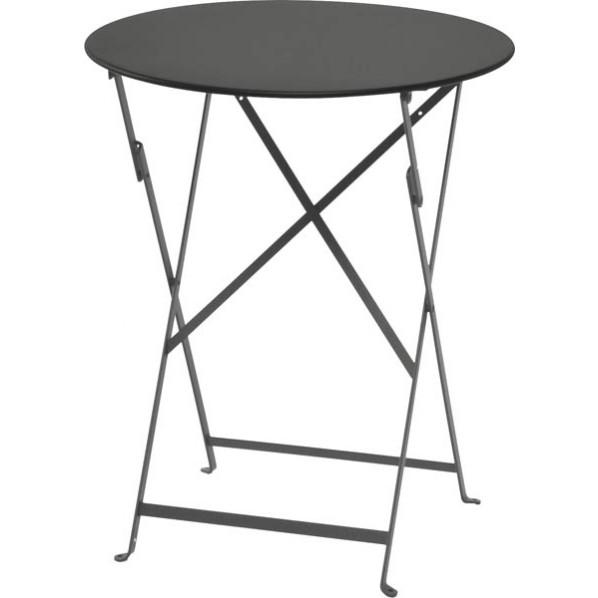 【送料無料】ビストロ ビストロ ラウンドテーブル600 ダークグレー ガーデンテーブル・チェア 650211910 1台
