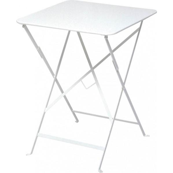 【送料無料】ビストロ ビストロ スクエアテーブル570 ホワイト ガーデンテーブル・チェア 650212110 1台