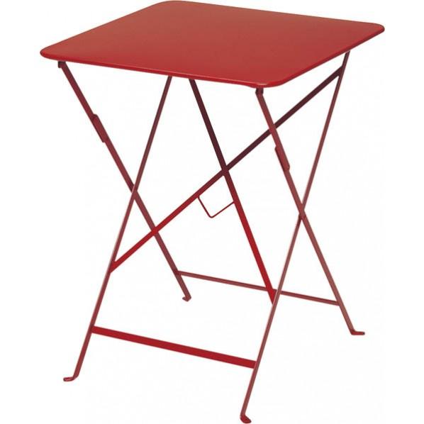 【送料無料】ビストロ ビストロ スクエアテーブル570 レッド ガーデンテーブル・チェア 650212310 1台