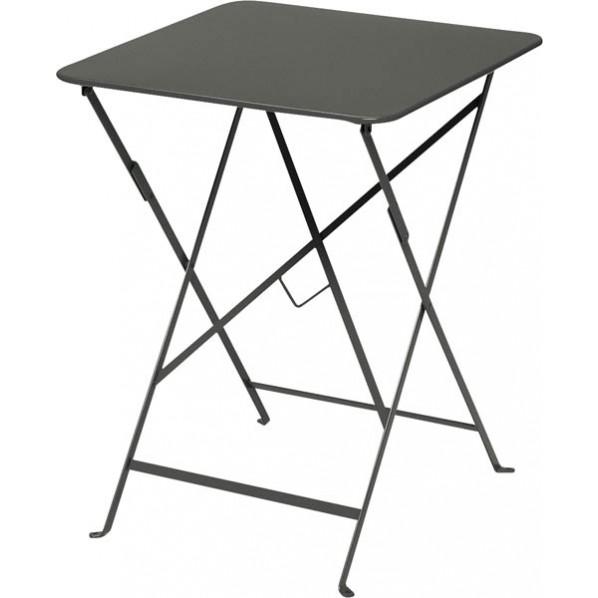 【送料無料】ビストロ ビストロ スクエアテーブル570 ダークグレー ガーデンテーブル・チェア 650212510 1台