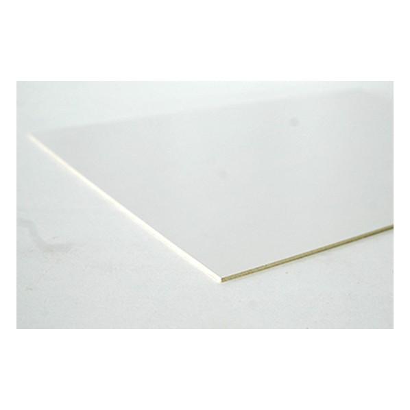 DIY FACTORY 合板/ポリ合板 白(片面白) 約2.5x300x600(mm) 1個