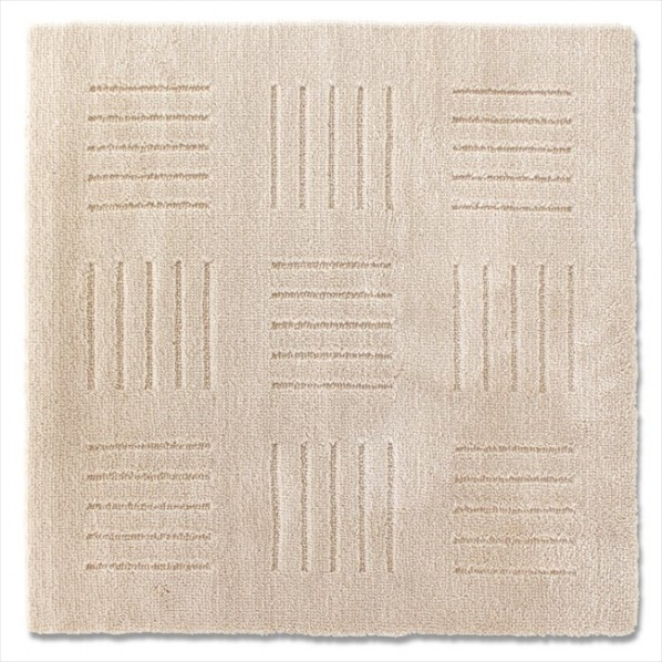 オカ ピタプラス ブリック キッチンマット ベージュ 幅60×奥行60×厚み1cm 1個