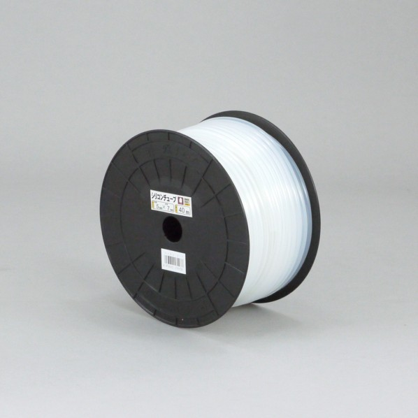 【送料無料】三洋化成 シリコンチューブ プチドラム巻 ホワイト 4mm×6mm×40m ST-4 1個