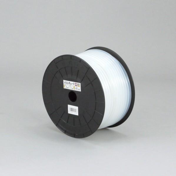 【送料無料】三洋化成 シリコンチューブ プチドラム巻 ホワイト 3mm××5mm×40m ST-3 1個