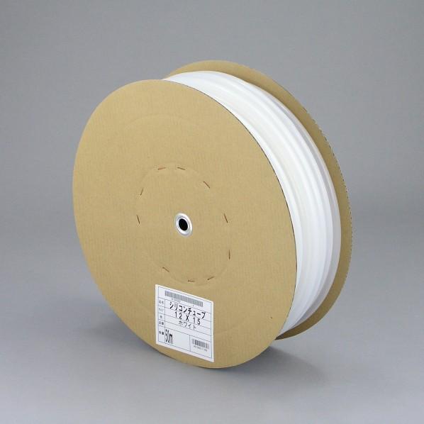 【送料無料】三洋化成 シリコンチューブ ドラム巻 ホワイト 12mm×15mm×50m ST-1215D 50W 1個