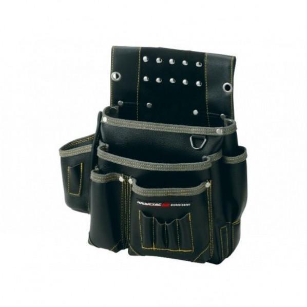 【送料無料】NEXUS 仮枠釘袋 墨ツボ差付 大 BK ブラック H345×W340×D140mm NX-802B 1個