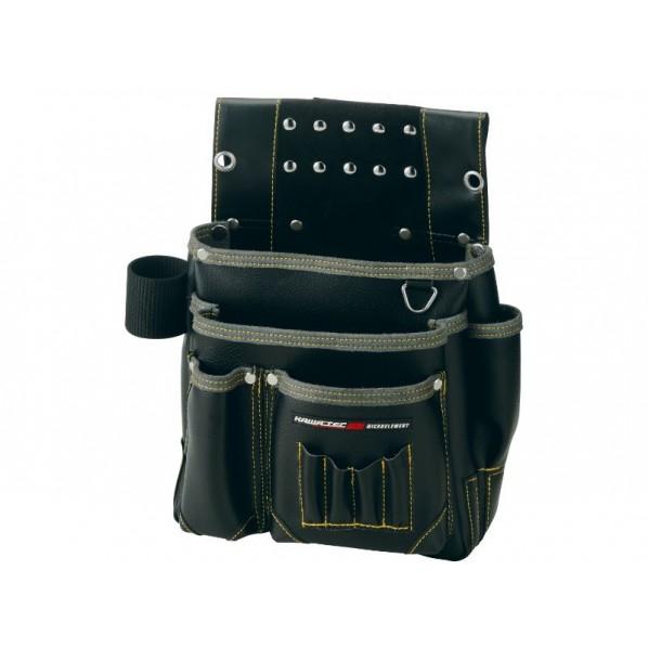 【送料無料】NEXUS 仮枠釘袋 工具差付 大 BK ブラック H340×W320×D130mm NX-804B 1個