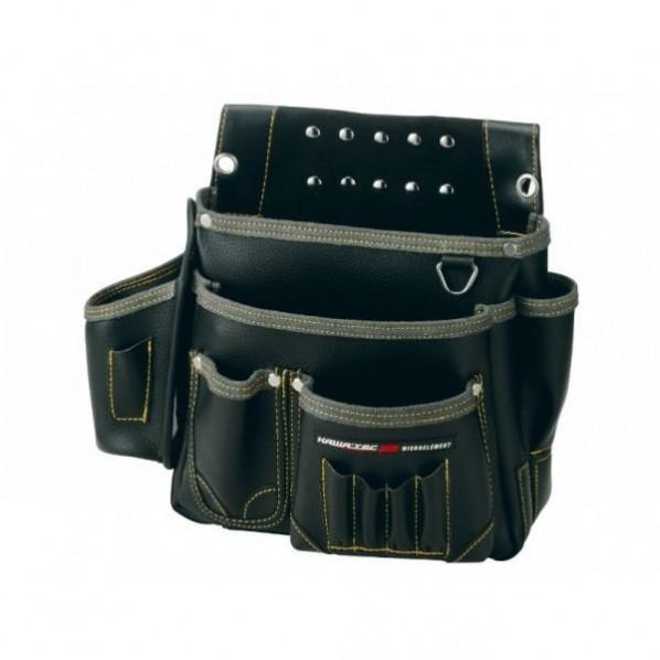 【送料無料】NEXUS 棟梁型釘袋 墨ツボ差付 BK ブラック H280×W340×D130mm NX-805B 1個
