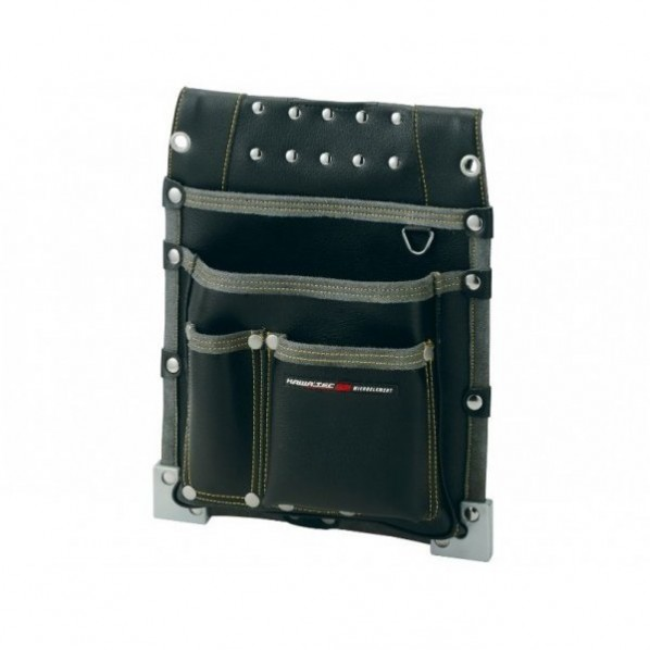 【送料無料】NEXUS 仮枠釘袋 職人タイプ 大 BK ブラック H365×W290×D75mm NX-813B 1個