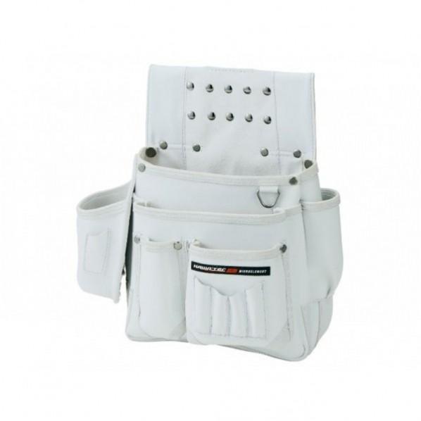 【送料無料】NEXUS 仮枠釘袋 墨ツボ差付 小 WH ホワイト H330×W330×D130mm NX-801W 1個