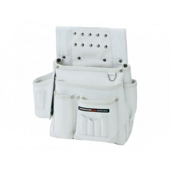【送料無料】NEXUS 仮枠釘袋 墨ツボ差付 大 WH ホワイト H345×W340×D140mm NX-802W 1個