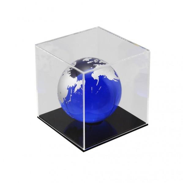 【送料無料】ハイロジック 透明アクリルケース 6面(底板黒) 100×100×700mm Hexb117 1個