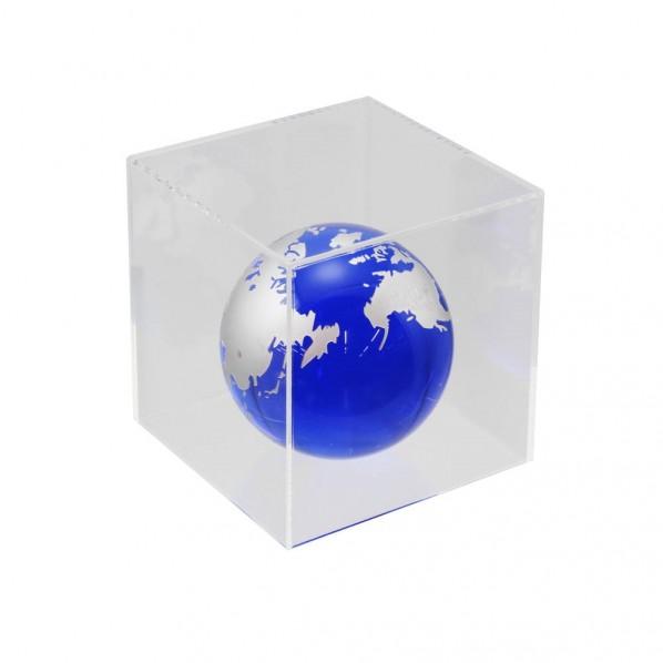 【送料無料】ハイロジック 透明アクリルケース 5面(底板なし) 100×100×700mm Pen117 1個