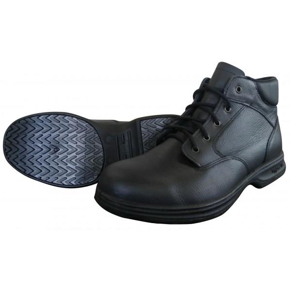 【送料無料】日進ゴム ハイパーV#9100 JIS規格認定安全靴(ヒモ) ミドルカット 黒 24.5 #9100 1足