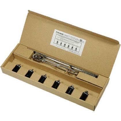 【送料無料】ASH ヘキサゴンソケットセット(ラチェットハンドル付き)9.5□×38L VXKS317 1S