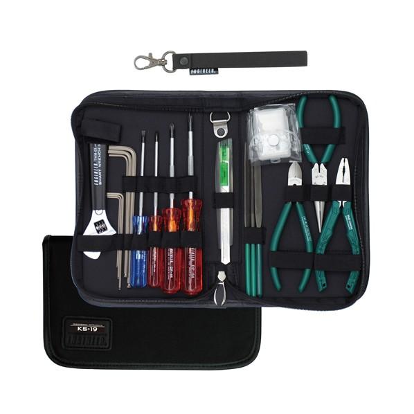 【送料無料】エンジニア(ENGINEER) メンテナンスキット ブラック KS-19 19点セット