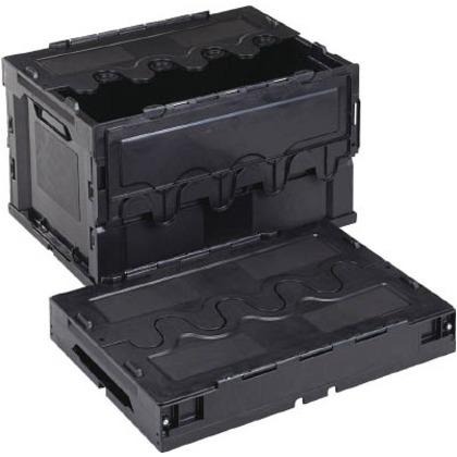 【送料無料】リス 導電性折りたたみコンテナーCF−S51A黒 CFE-S51A-BK