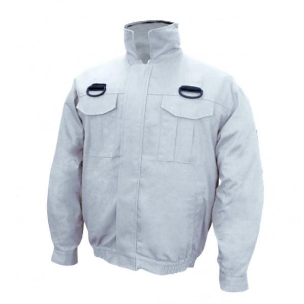【送料無料】ブレイン 空調エアコン服ハーネス/服地のみ シルバー Lサイズ(着丈66、肩幅52、袖丈56、胸囲120、裾廻82、裾廻最大113cm) BR-560