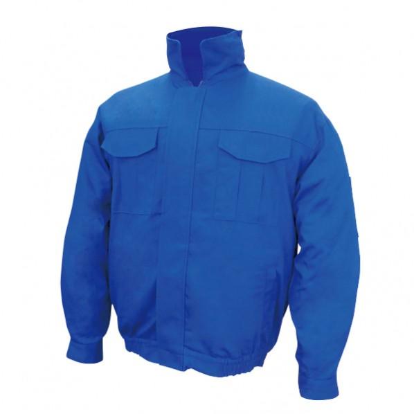 【送料無料】ブレイン 空調エアコン服ノーマル/服地のみ ブルー LLサイズ(着丈68、肩幅54、袖丈58、胸囲124、裾廻87、裾廻最大118cm) BR-560