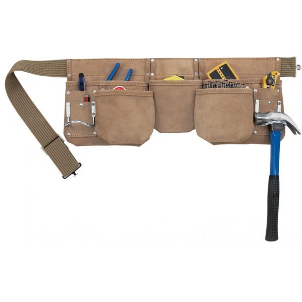 【送料無料】クニーズ 革製腰袋ダブルバッグ腰袋両側ベルト(ベルト付き) AP-622