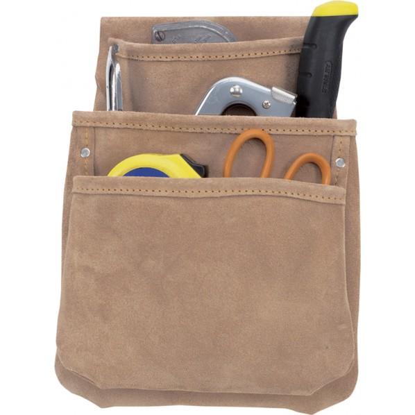 【送料無料】クニーズ 革製シングルバッグ腰袋片側(ベルト無し) DW-1018