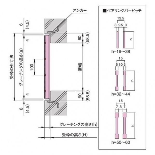 横断溝・側溝用細目スチールグレーチング