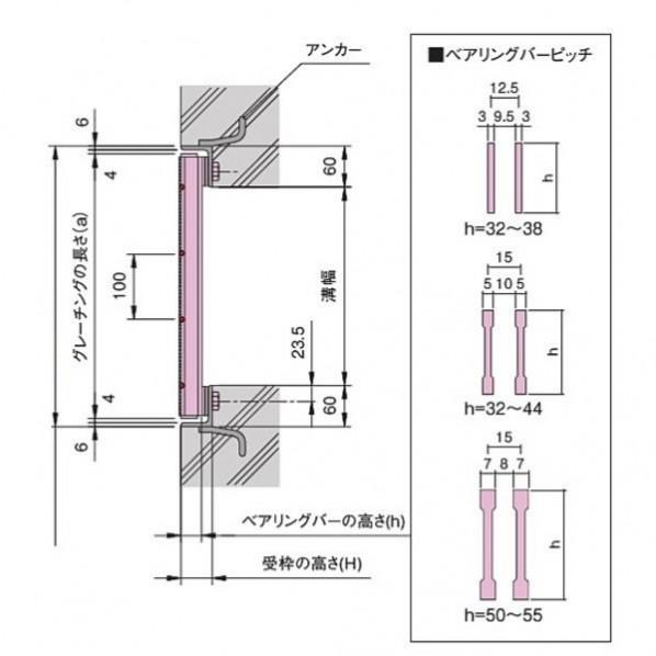 騒音防止用 ボルト固定式細目スチールグレーチング