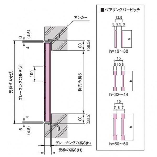 落とし込式 正方形桝用スチールグレーチング