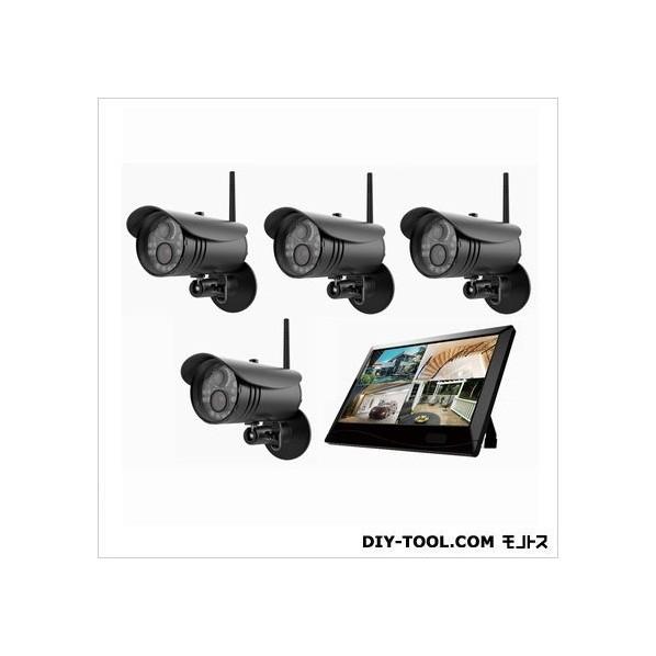 【送料無料】マザーツール 高解像度ワイヤレスセキュリティカメラシステム/カメラ4台セット W255xH173x D38mm MT-WCM300-4 1セット