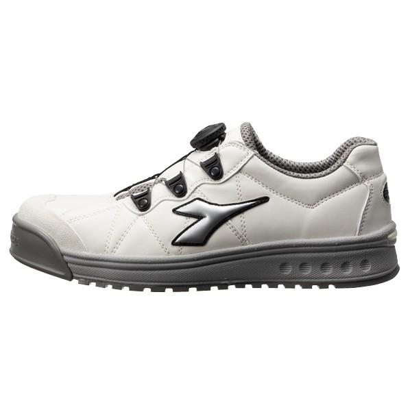 【送料無料】ディアドラ ディアドラ DIADORA安全作業靴 フィンチ 白/銀/白 24.5cm 320 x 211 x 114 mm 1