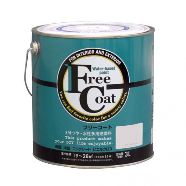 【送料無料】アトムハウスペイント 新フリーコート ホワイトグレー 3L 1缶
