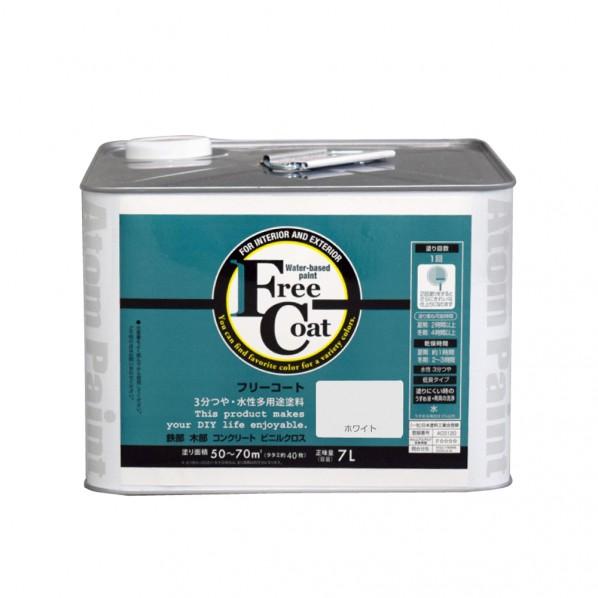 【送料無料】アトムハウスペイント 新フリーコート ホワイト 3L 1缶