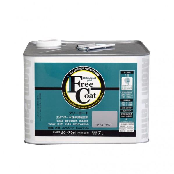 【送料無料】アトムハウスペイント 新フリーコート マイルドグレー 3L 1缶