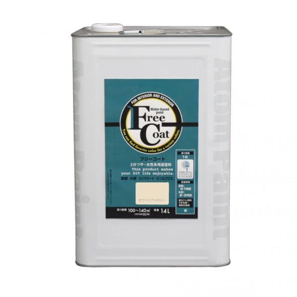 【送料無料】アトムハウスペイント 新フリーコート ホワイトアイボリー 14L 1缶