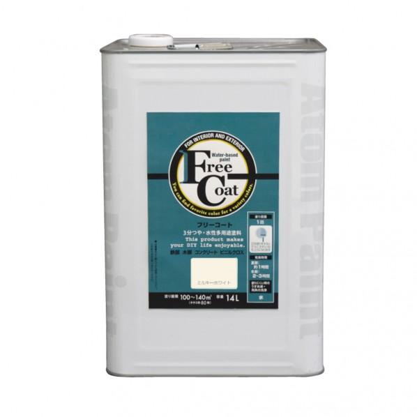 【送料無料】アトムハウスペイント 新フリーコート ミルキーホワイト 14L 1缶