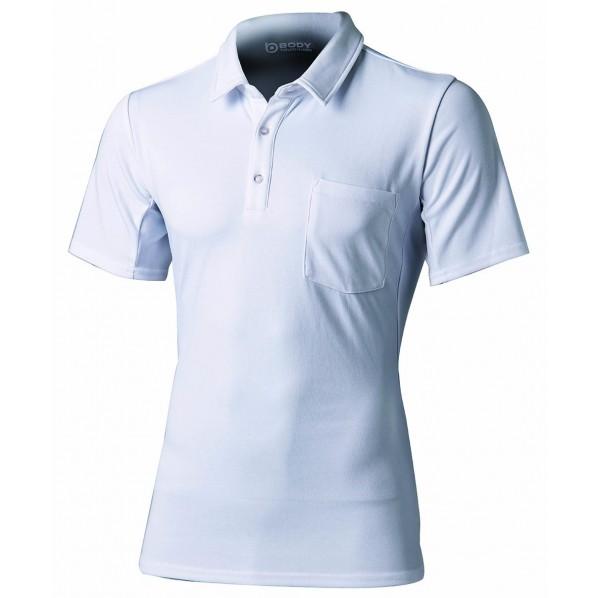 おたふく手袋 メッシュポロシャツ ショート 12 白 胸囲:104-112/身長:175-185 JW-603 1枚