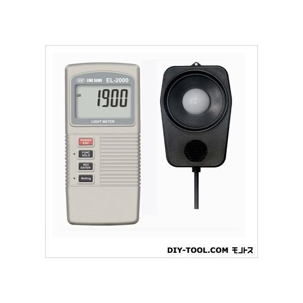 【送料無料】ライン精機 デジタル照度計 135×60×33mm EL-2000 1台