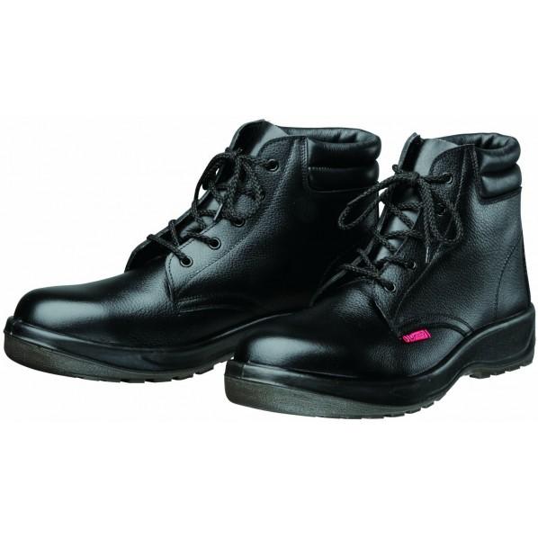 【送料無料】ドンケル ダイナスティPU2 安全靴(ミドルカット)PU二層底 耐滑 衝撃吸収 ブラック 25.5cm D7003 1足