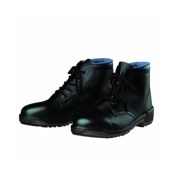 【送料無料】ドンケル ウレタン底安全靴(ミドルカット)PU二層底 耐滑 衝撃吸収 ブラック 24.0cm D5003 1足