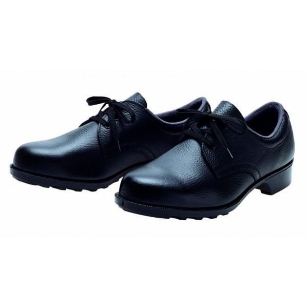 【送料無料】ドンケル 一般作業用安全靴(ヒモ)ラバー1層底 耐滑 ブラック 24.5cm 601 1足