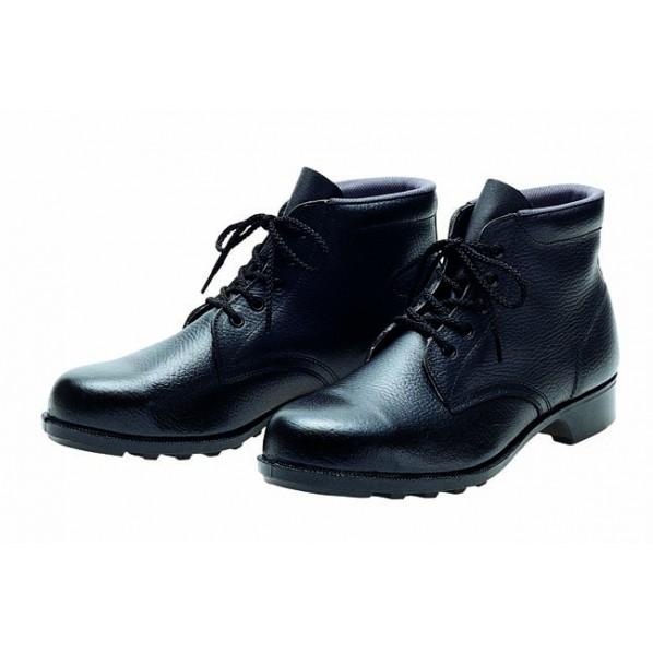 【送料無料】ドンケル 一般作業用安全靴(ミドルカット)ラバー1層底 耐滑 ブラック 25.5cm 603 1足