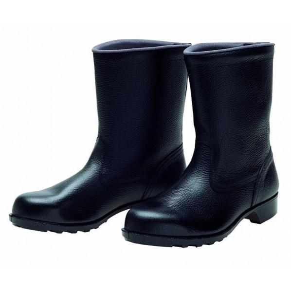 【送料無料】ドンケル 一般作業用安全靴(半長靴)ラバー1層底 耐滑 ブラック 28.0cm 606 1足