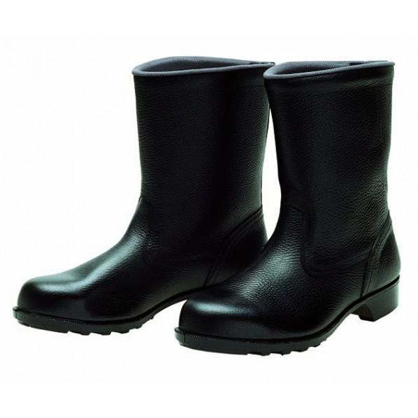 【送料無料】ドンケル 安全靴(半長靴)ラバー1層底 耐滑 ブラック 27.5cm 606 静電 1足