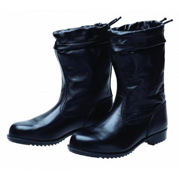 【送料無料】ドンケル 安全靴(半長靴)カバー付 ラバー1層底 耐滑 ブラック 24.0cm 1足